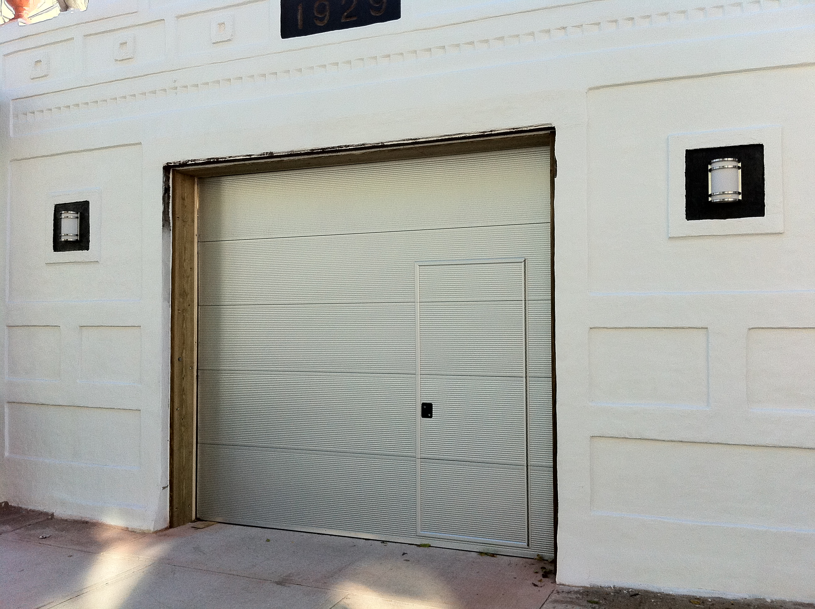 photo - Garage Door With Door